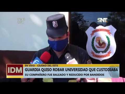 CDE: Guardia quiso robar en la universidad que custodiaba