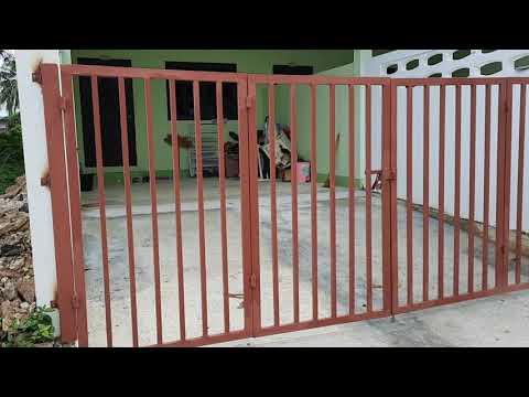 ตัวอย่างบานประตูรั้วบ้านแบบพับ