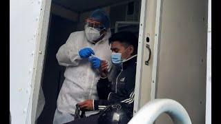 España donó 50 mil pruebas de hisopado