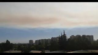 Nube de humo de incendio en Quilpué llega a la Región Metropolitana