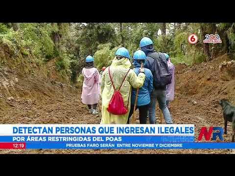 Detectan personas que ingresan a áreas restringidas del Volcán Poas