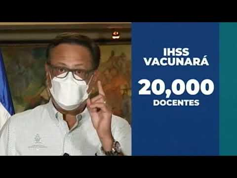 Ministro de Educación detalla plan estratégico de vacunación para docentes en Honduras