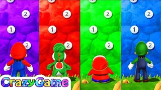 Mario Party 9 - Peak Precision w/ other Minigames Gameplay