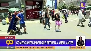 ???? Comerciantes de mesa redonda protestan por ambulantes y aforo reducido | Latina Noticias