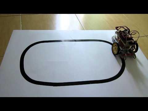 Line tracker robot with FEZ Panda II