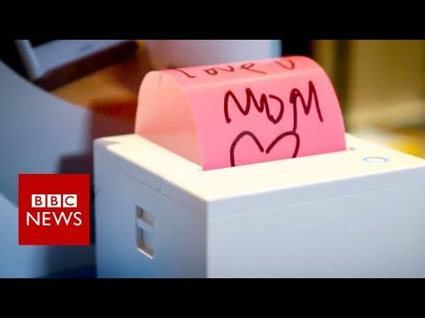 connectYoutube - CES 2018: Sticky note printer created for technophobe mother - BBC News