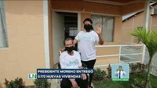 Presidente Moreno entregó 3.172 nuevas viviendas