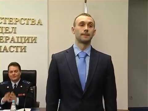Руководителем УМВД России по Томской области вручены первые погоны молодым офицерам
