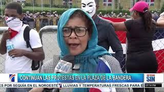 Sexto día de protestas frente a la JCE