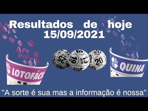 Resultados de hoje - 14 - 09 - 21 -  LOTOFACIL 2323 - QUINA 5658 -  MEGA SENA 2409 - SUPER 7 - 144