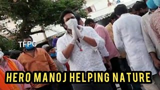 Hero Manchu Manoj | Helped Migrant Workers With Transportation & Food Facility I TFPC - TFPC