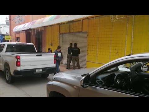 Agencia de Inv. Criminal clausuró negocio en Matehuala por probable venta de Artículos Pirata