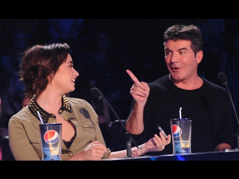 Demi Lovato and Simon Cowell X Factor Funny Moments Part 1