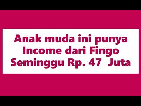 Income Bisnis Fingo Perminggu Rp. 47 Juta