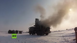 Rusia realiza ejercicios con los sistemas de misiles Iskander y de defensa antiaérea Pantsir-S1