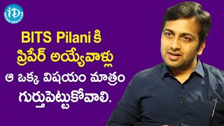IPos Probationer A Venkateshwar Reddy's Message to BITS Pilani Aspirants | Dil Se with Anjali - IDREAMMOVIES