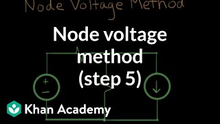 Node voltage method step 5