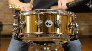 DW 5.5x14 Collectors Series Polished Brass Snare Drum-Quick 'n' Dirty
