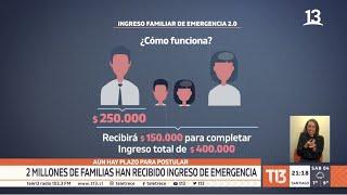 2 millones de familias han recibido Ingreso Familiar de Emergencia