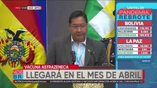 Bolivia adquiere 5 millones de dosis de la vacuna AstraZeneca