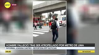 Hombre murió arrollado por tren del Metro de Lima en la Estación Angamos