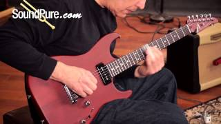 Anderson Hollow Cobra S Special Satin Trans Cherry Electric Guitar Demo