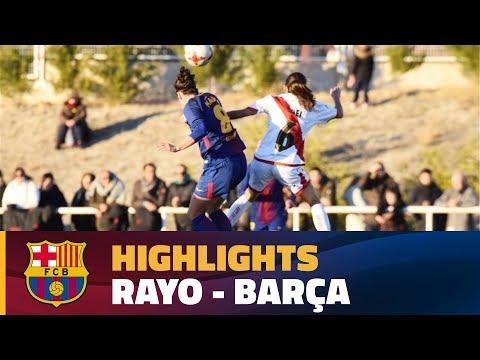 [HIGHLIGHTS] FUTBOL FEM (Liga): Rayo - FC Barcelona (1-2)