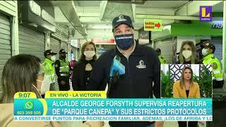 Alcalde George Forsyth supervisa reapertura de parque Cánepa con estrictos protocolos (6 de Julio)