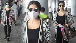 Dhee jodi judge poorna spotted at hyderabad airport today | celebrities airport videos | tfpc - TFPC