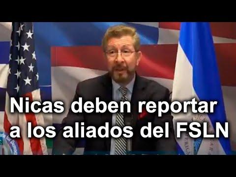 Llaman a Nicas reportar a los aliados del FSLN