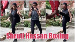 Actress Shruti Hassan Boxing With Trainer | Latest Film News | TFPC - TFPC