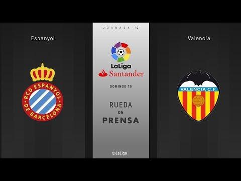 Rueda de prensa Espanyol vs Valencia