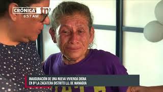 Inauguran vivienda digna en el barrio La Zacatera, Distrito lll de Managua - Nicaragua