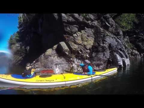 Sea Kayaking at Low Tide at Orcas Cove