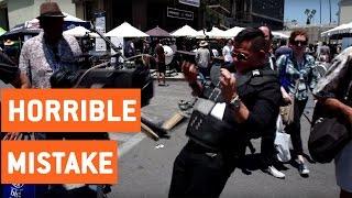 Man Drops Expensive Camera   Cinegear Steadicam Demo
