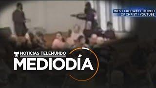 Feligrés abatió a un atacante en una iglesia de Texas   Noticias Telemundo