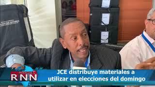 JCE distribuye materiales a utilizar en elecciones del domingo