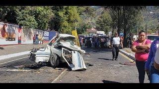 Revelan video de accidente ocurrido en la Ruta al Pacífico