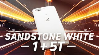 OnePlus 5T in Sandstone White hands-on!