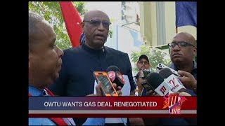 OWTU Wants Gas Deal Renegotiated