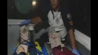 Hombre y mujer heridos tras ser arrollados en ruta de Antigua Guatemala