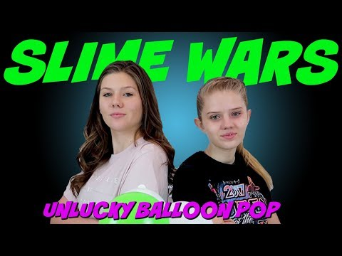 connectYoutube - SLIME WARS || UNLUCKY BALLOON POP || Taylor and Vanessa