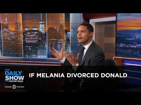 connectYoutube - If Melania Divorced Donald - Between the Scenes | The Daily Show
