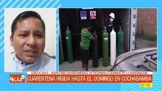 Cuarentena rígida hasta el Domingo en Cochabamba