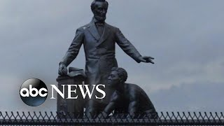 Protesters topple statues of confederate leaders and slave owners