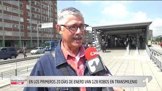 Se presentaron 128 robos en TransMilenio en los primeros 20 días del año