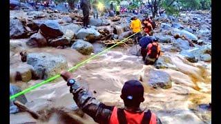 Desborde de un río provocó la muerte de una mujer y sus dos hijos