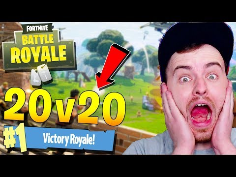 *EPIC NEW GAMEMODE* 20v20 BATTLE ROYALE SHOOTOUT w/ JeromeASF (Fortnite Battle Royale Ga)
