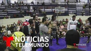 Familiares y amigos despiden a 'La Parka' entre aplausos en el ring   Noticias Telemundo
