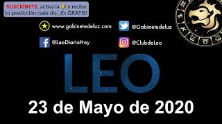 Horóscopo Diario - Leo - 23 de Mayo de 2020